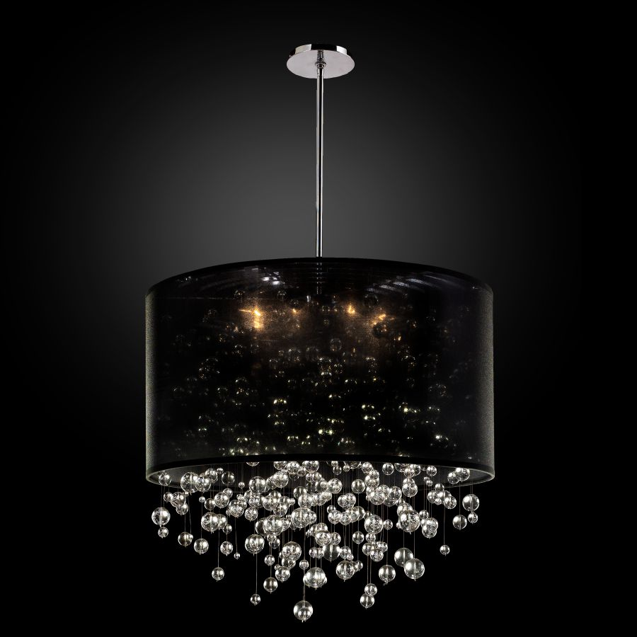 Glass Bubble Chandelier | Silhouette 590BD27SP-B-7C