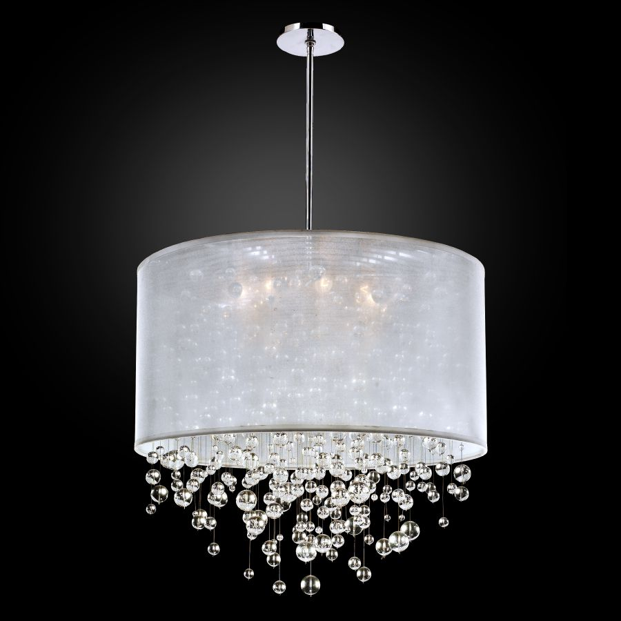 Glass Bubble Chandelier | Silhouette 590 by GLOW® Lighting.;