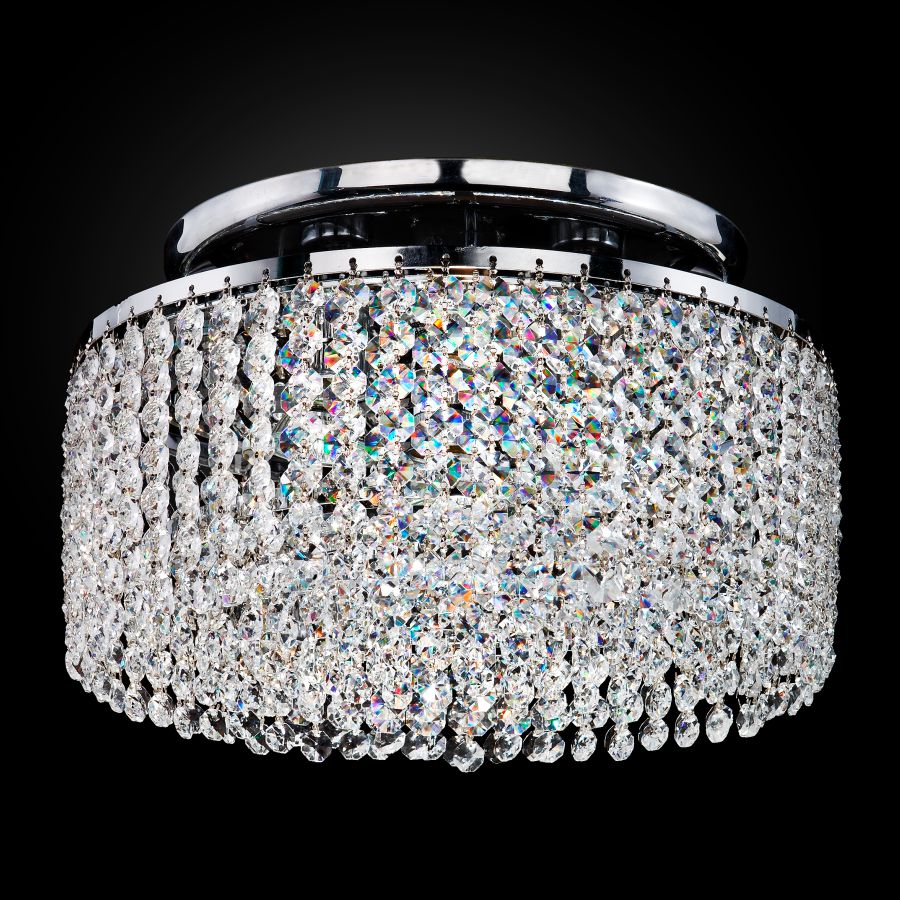 Crystal Ceiling Light Flush Mount | Urban Chic 596CC3LSP-7