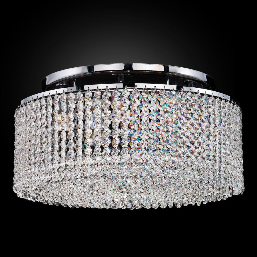 Crystal Ceiling Light Flush Mount Urban Chic 596 Glow