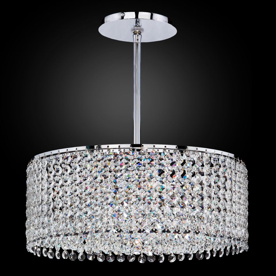 Crystal Drum Chandelier Urban Chic 596 Glow 174 Lighting