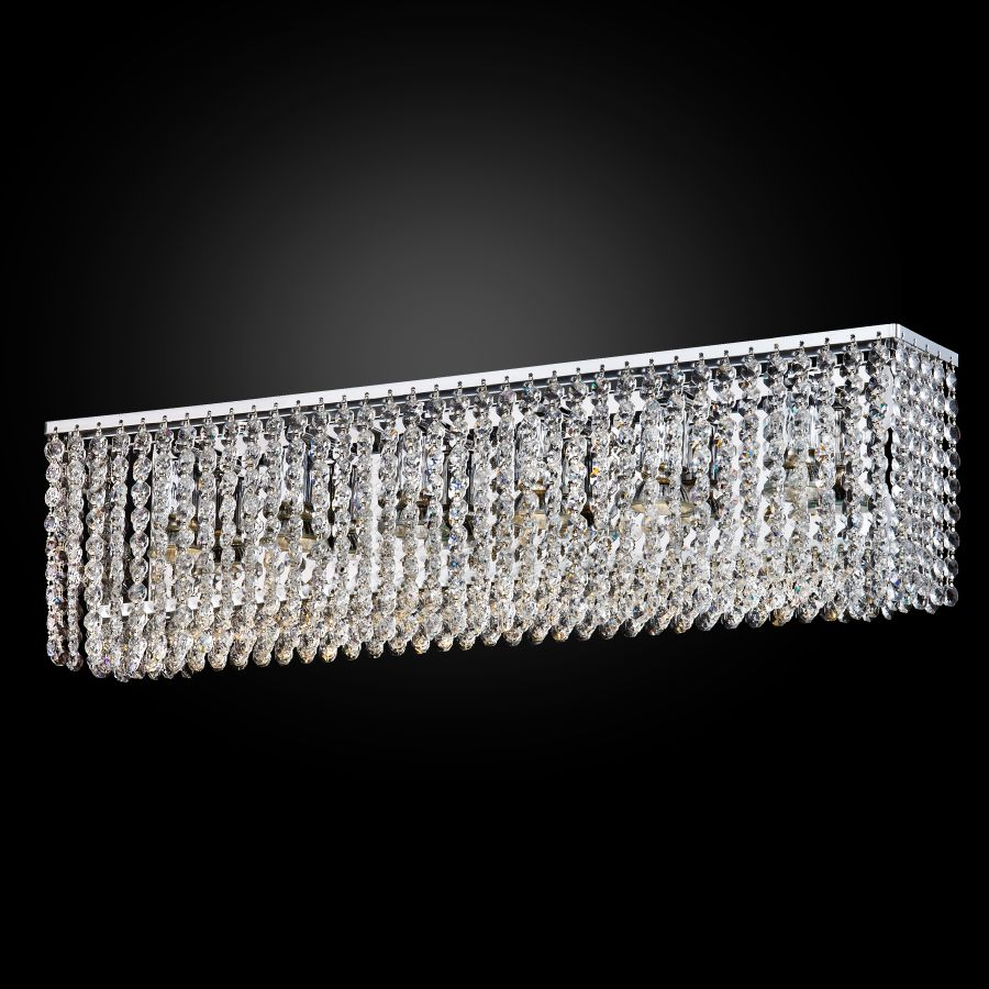Rectangular Crystal Chandeliers