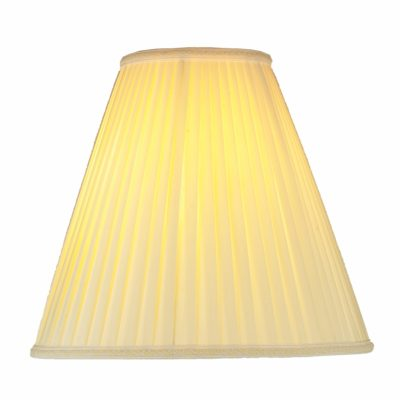 Set of 2 Off White Silk/Shantung 12″ Pleated Empire Lamp Shades | SH504