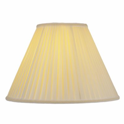 Set of 2 Off White Silk/Shantung 14″ Pleated Empire Lamp Shades | SH508