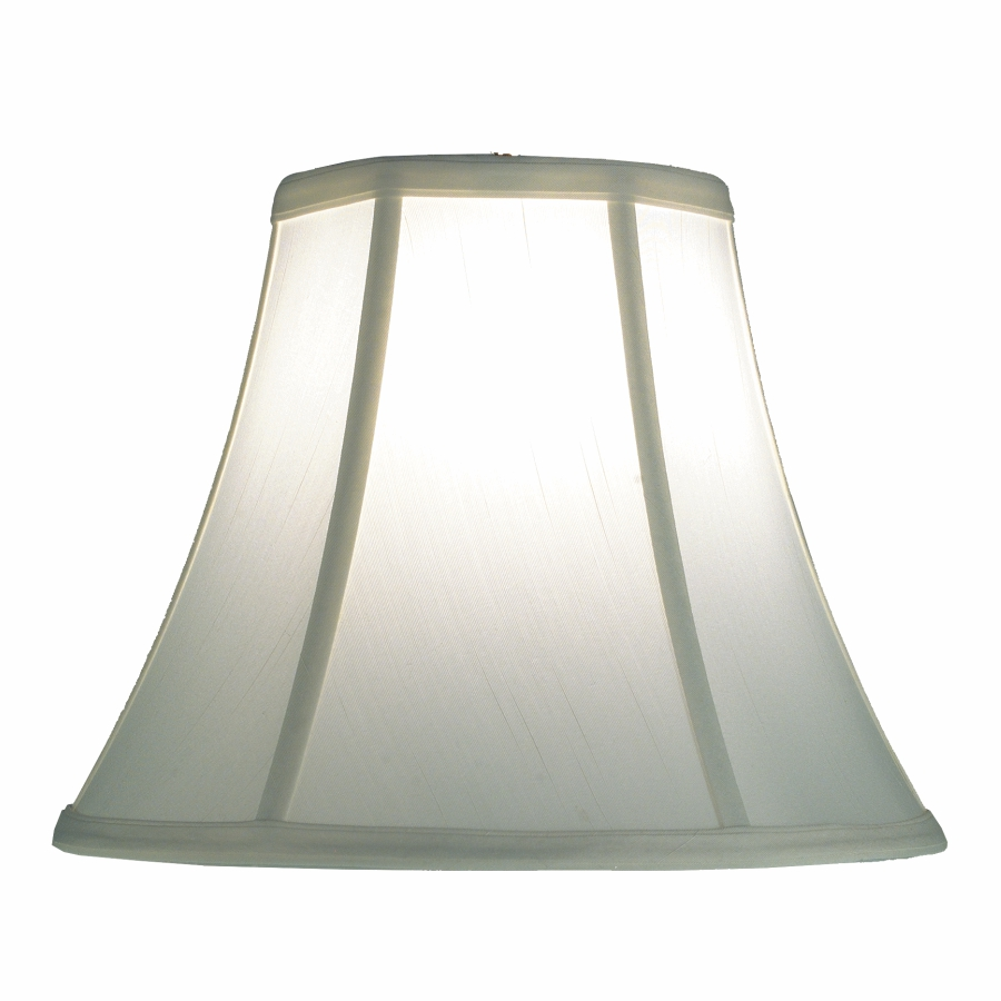 White Lamp Shade - Silk Bell Lamp Shade | SH500 by GLOW® Lighting