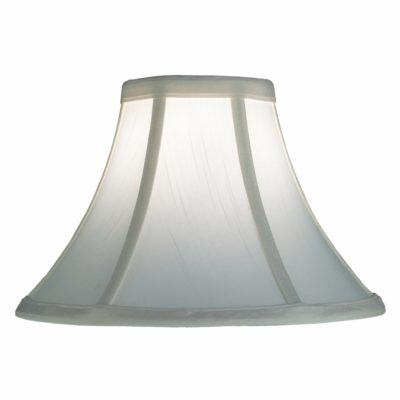 Set of 2 White Silk Bell 10″ Lamp Shades | SH500