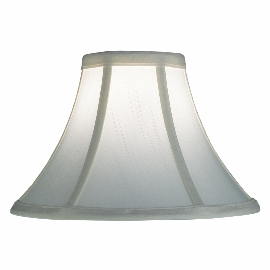 Silk Bell Lamp Shade - White Lamp Shade | SH500 by GLOW® Lighting