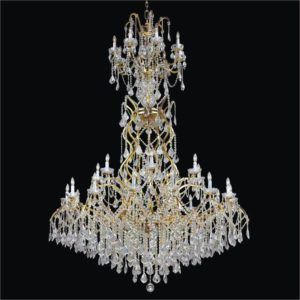 Foyer Crystal Chandelier | Old World Iron 543AF30L-3C