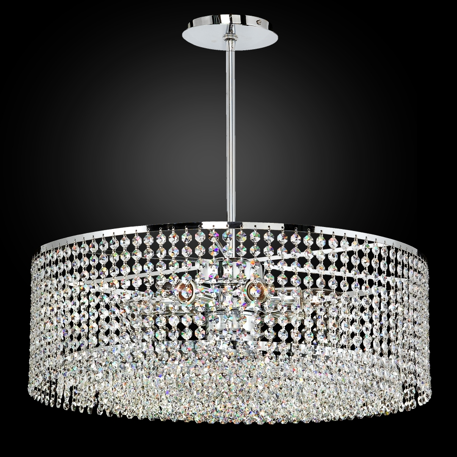 tie lighting black pendant chandelier chandeliers glow product by crystal arm