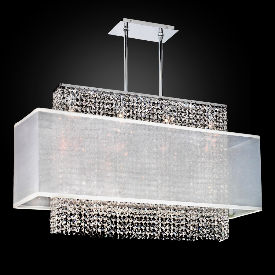 Linear crystal chandelier rectangular shade chandelier 595 glow rectangular crystal chandelier flush mount urban essentials by glow lighting mozeypictures Images