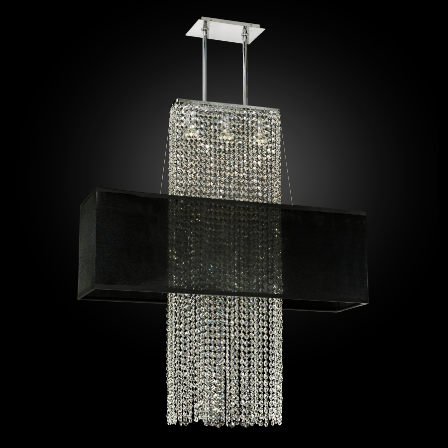 Rectangular Shade Crystal Chandelier | Urban Essentials 595EM33-38SP-B-3