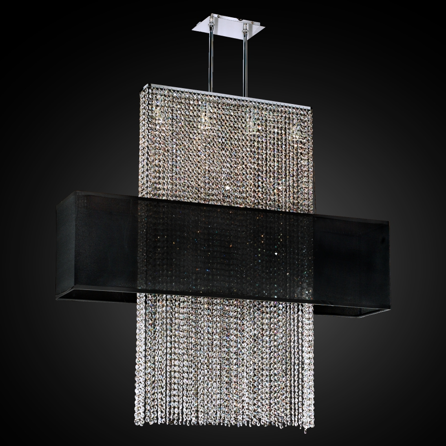 Rectangular Shade Crystal Chandelier | Urban Essentials 595EM44-42SP-B-3