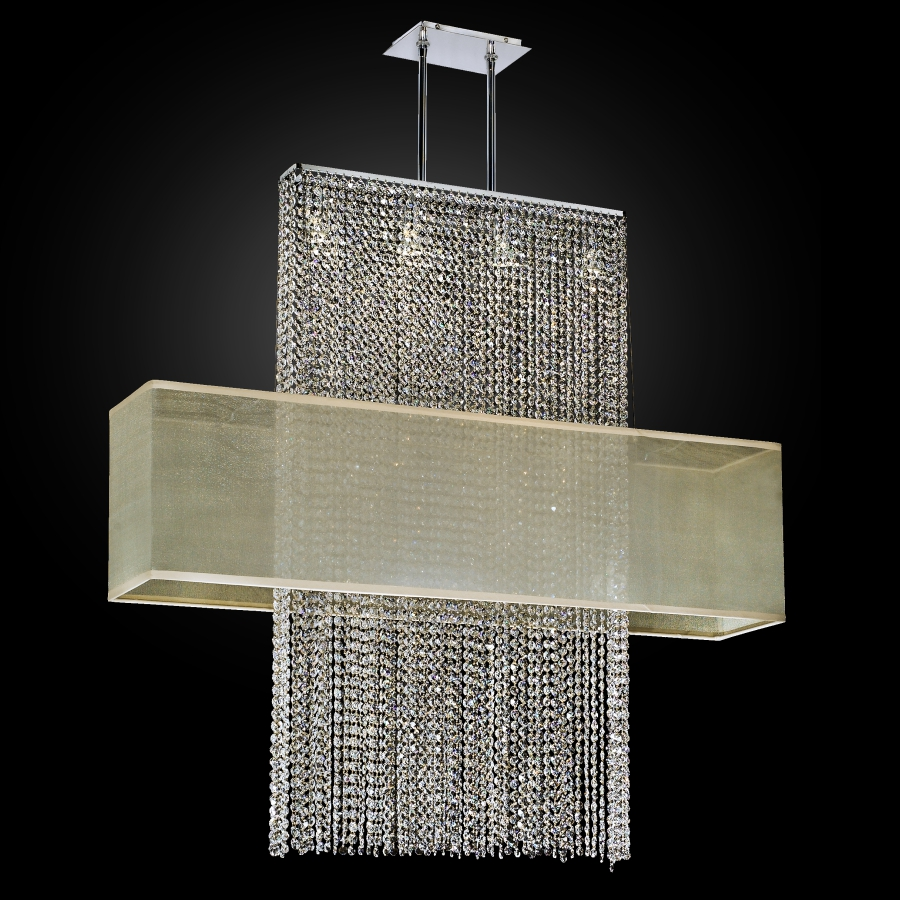 Rectangular Shade Crystal Chandelier | Urban Essentials 595EM44-42SP-T-3