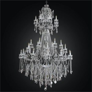 Large Iron Chandelier | Old World Iron 543AF32L-3C