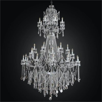 Large Iron Foyer Chandelier – Entryway Crystal Chandelier | Old World Iron 543A
