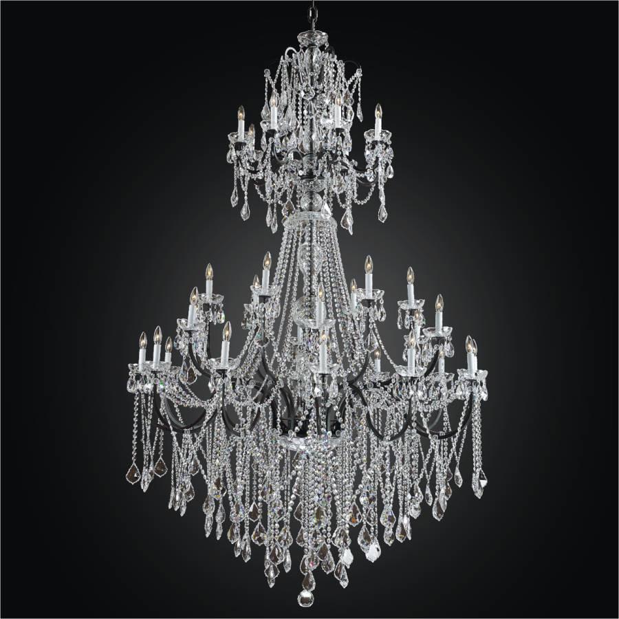 Wide Foyer Chandelier : Large iron foyer chandelier entryway crystal
