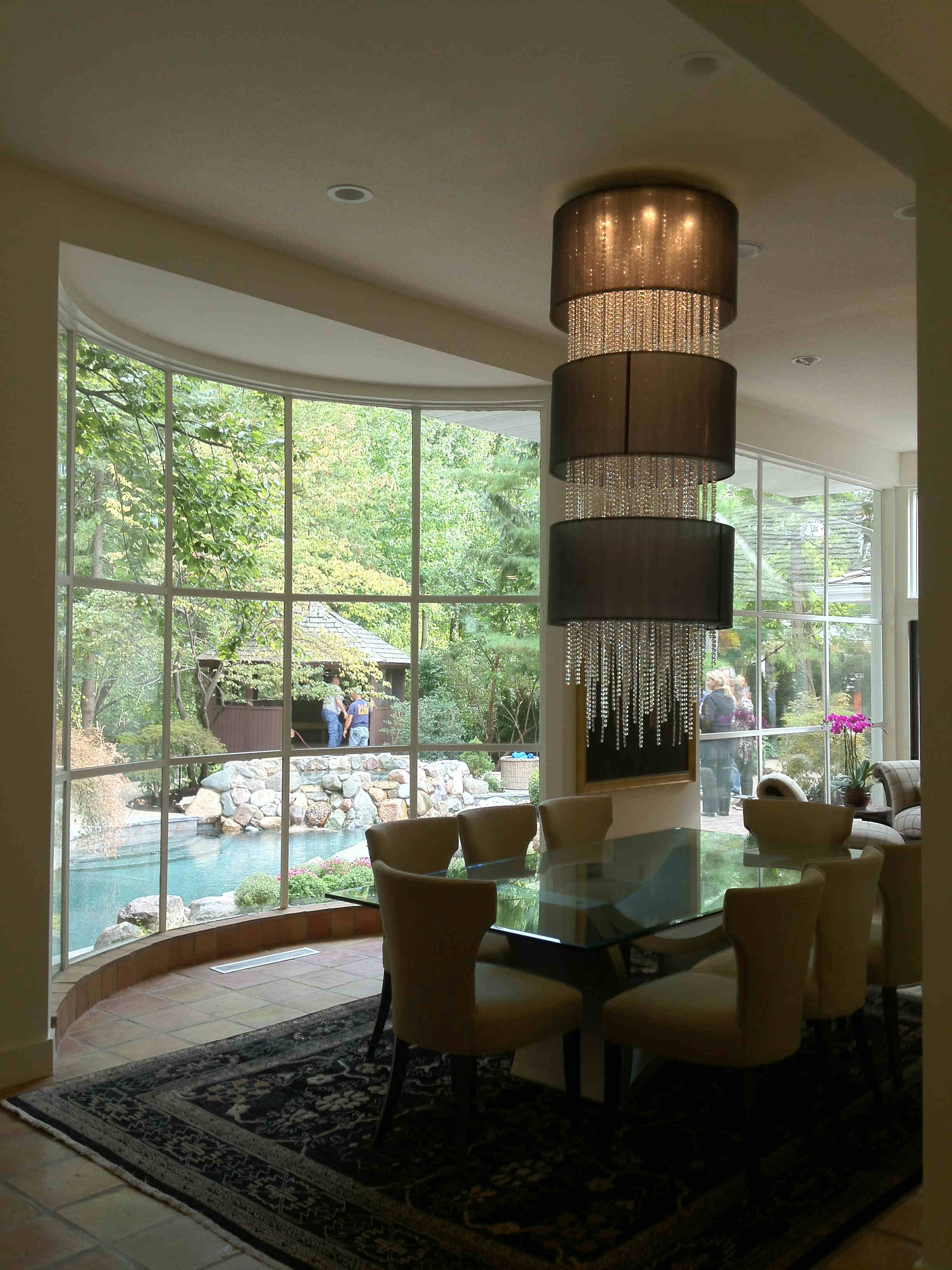 Michigan Chandelier - Custom Crystal Foyer Chandelier