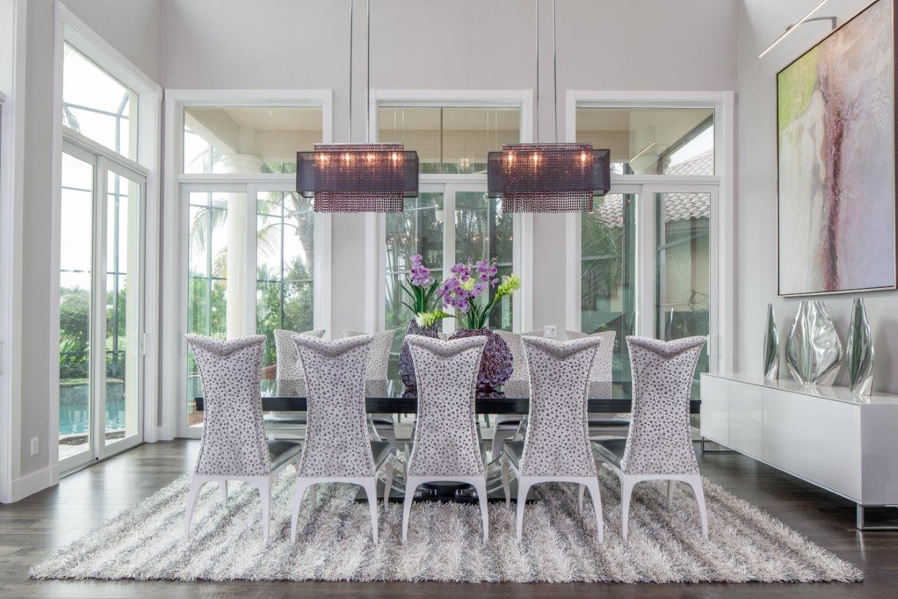 GLOW Lighting Home Rectangular Dual Black Crystal Shaded Chandelier Dining Formal Traditional Contemporary