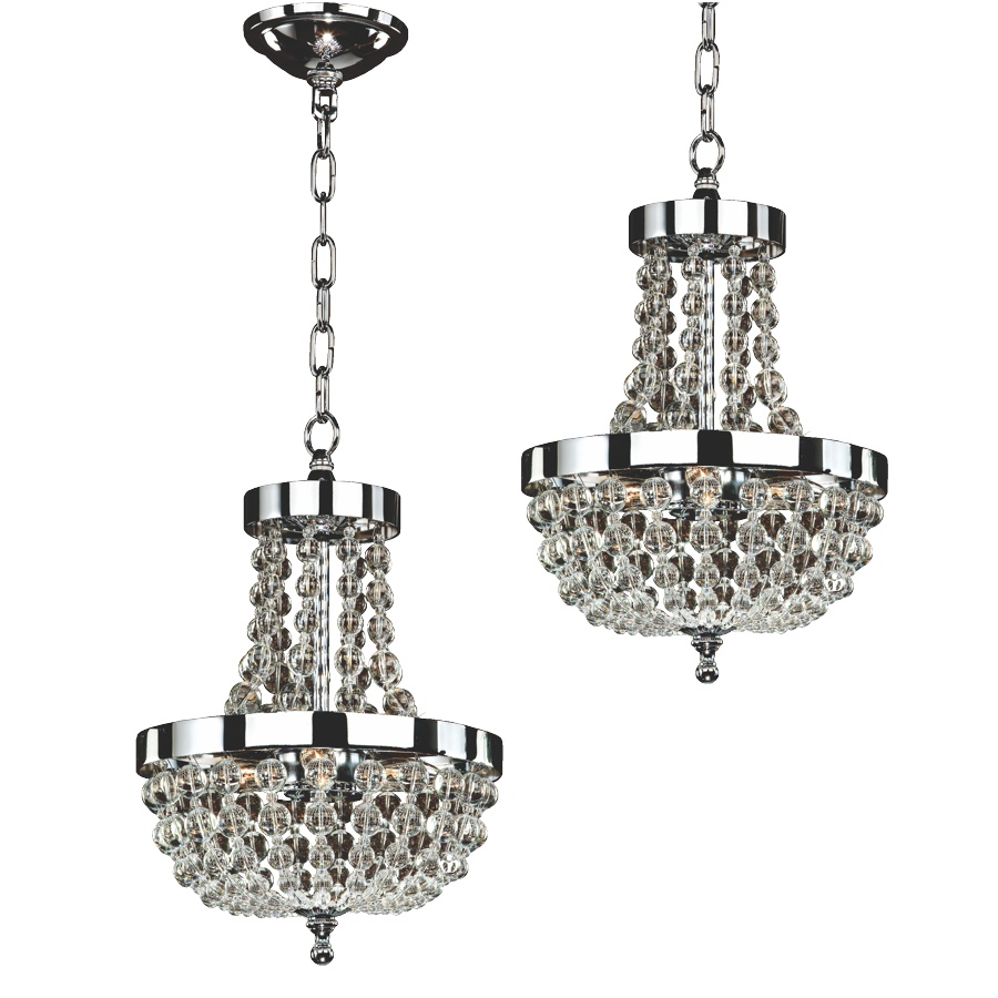 Small Beaded Chandeliers - 2 Pack | Arcadia 612 by GLOW® Lighting