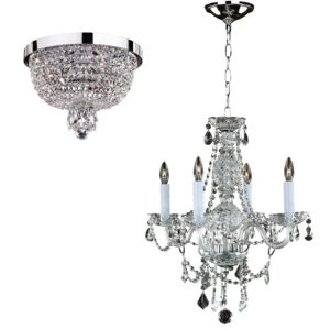 Crystal Light Fixture - Set | Crystal Palace 550 by GLOW® Lighting