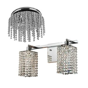 Box Set - Crystal Bathroom Lights | Fuzion X by GLOW® Lighting