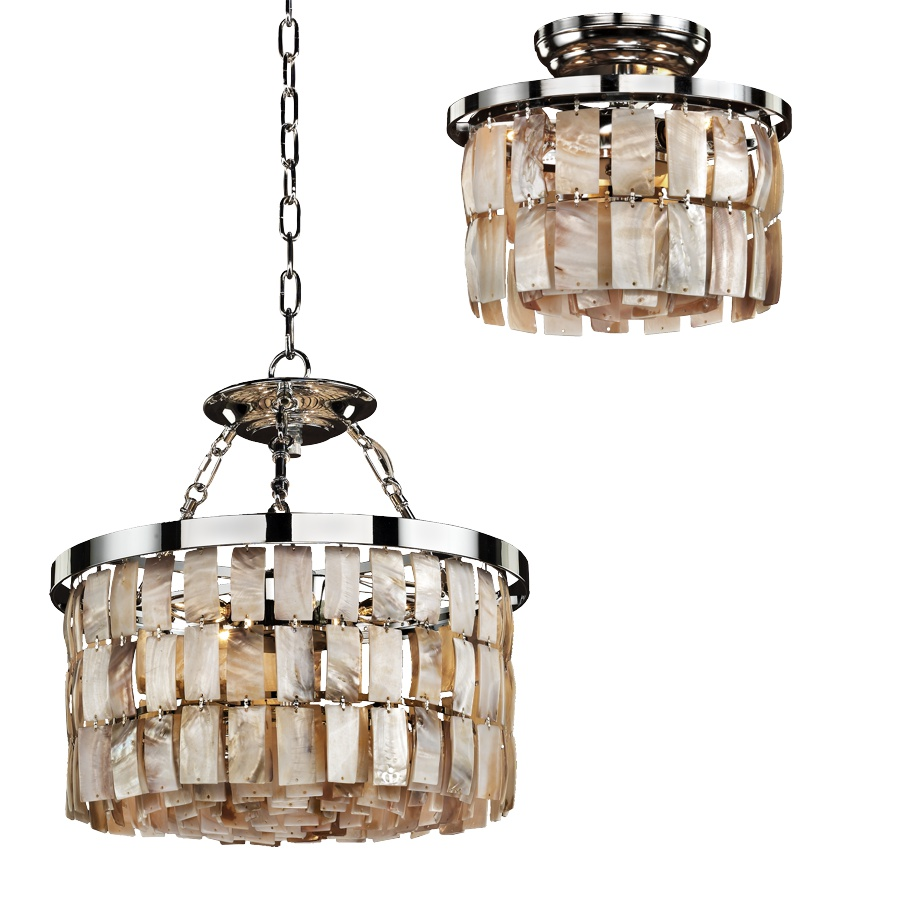 newest 91468 c1228 La Jolla 619H Box Set Natural Shell Ceiling Light Fixtures | 3 - 6 Lights