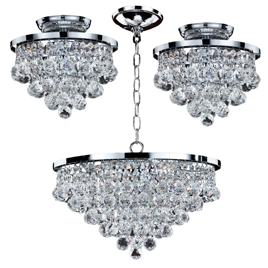 Crystal Ball Light Fixtures | Vista 628F by GLOW® Lighting