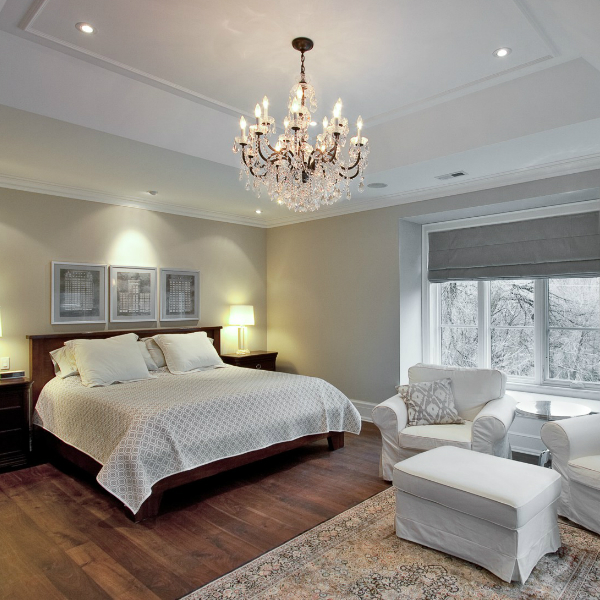 Types of bedroom chandelier lights blog Old World Iron crystal chanlier
