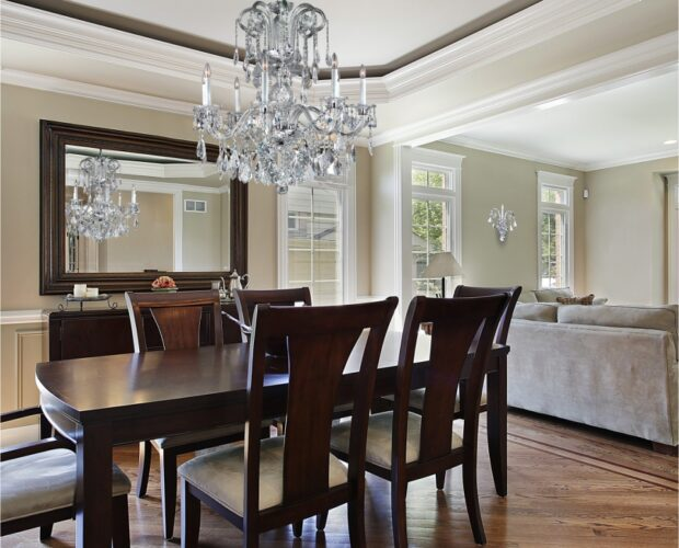 Dynasty traditional crystal dining room chandelier