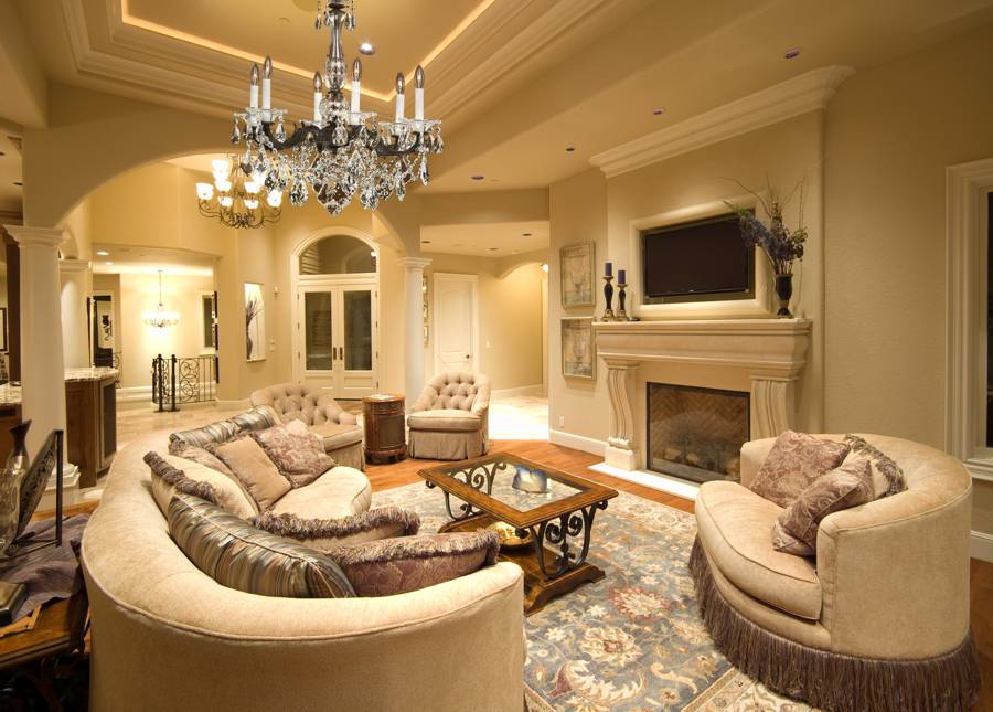 Best living room crystal chandeliers English Manor wrought iron and crystal chandelier in formal living room
