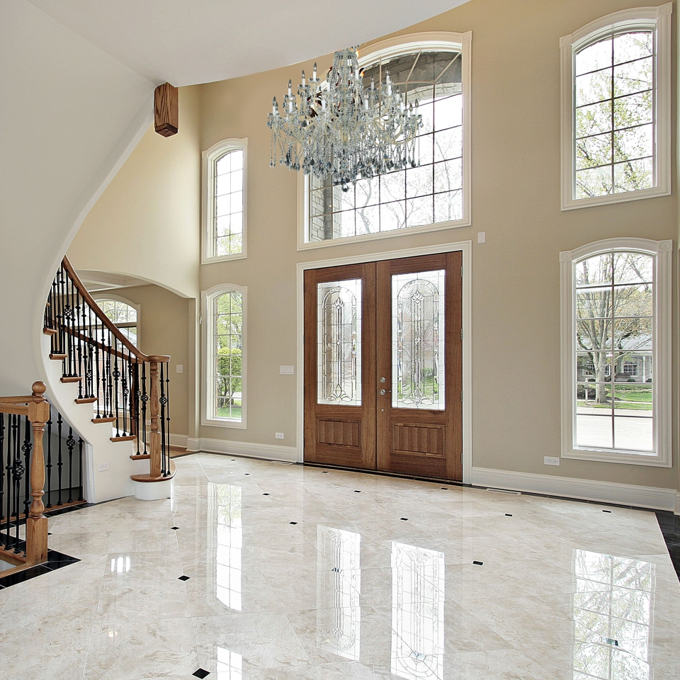 Big chandelier Old World Iron 543 traditional wrought iron and crystal foyer chandelier in grand entryway