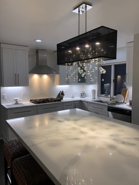 Halogen bulbs for crystal chandeliers Finishing Touches black shaded beaded pendant light over kitchen island